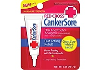 Red Cross CankerSore Oral Medication - Maximum Strength - 3 Pack (0.75 oz)