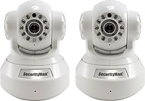 SecurityMan 2 Pack Wireless/Wired IP Security Camera for iPad, iPhone, Smartphone, Tablet