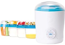 Dash Greek Yogurt Maker w 2 BPA free storage containers, travel jars, strainer & recipe book