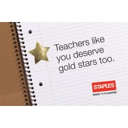 Staples Teacher Gold Star Gift Cards