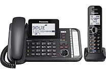 Panasonic® KX-TG9581B 2-Line Corded/Cordless Link2Cell Phone
