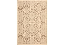 Safavieh Courtyard Indoor/Outdoor Paisley 6'-7' X 9'-6' Cream / Light Chocolate
