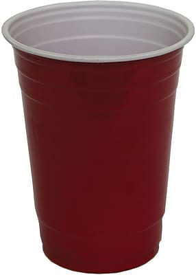 Red 16 oz Plastic Cup (M2C100A16) 1641231