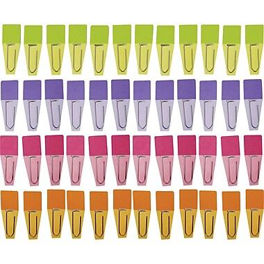 Clip-Rite® Solid Clip-Flag, Pink/Violet/Lime/Green, 8/Bundle