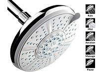A-Flow™ Shower Head - 5 Function Luxury Large 6'