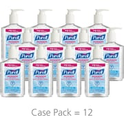Purell Instant Hand Sanitizer, Unscented, Clear, 8 oz. Pump Dispenser