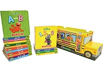 Sesame Street Bus ABC & 123 16 Book Set