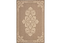 Safavieh Courtyard Indoor/Outdoor Medallion 7'-10' X 10' Brown / Creme