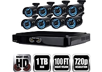 Night Owl HD 720p 8 Channel AHD Security System with 8 x 720p Cameras with 100ft of Night Vision and 1 TB HDD (B-A720-81-8)