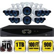 Night Owl B-F900-161-12 16 Channel 960H DVR with HDMI 1 TB HDD and 12 x 900 TVL Cameras 100ft NV