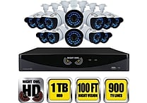 Night Owl 16 Channel 960H DVR with HDMI 1 TB HDD and 12 x 900 TVL Cameras (100ft NV)