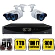 Night Owl 8 Channel 960H DVR with HDMI 1 TB HDD and 4 x 900 TVL Cameras (100ft NV)