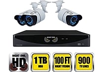 Night Owl B-F900-81-4 8 Channel 960H DVR with HDMI 1 TB HDD and 4 x 900 TVL Cameras