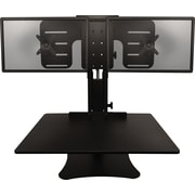 Victor Technology DC350 High Rise Dual Monitor Sit-Stand Desk Converter, Black