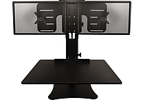 Victor Technology DC350 High Rise Dual Monitor Sit-Stand Desk Converter Black
