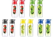 Flavour It 2 Go, Fruit Diffuser Bottle 2 Pack, Assorted Colors