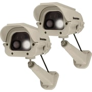 SecurityMan 2 Pack Solar Powered Spotlight Dummy Camera with PIR (Body Heat) Motion Sensor