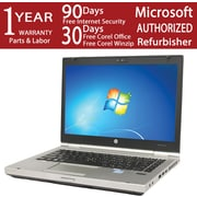 "HP EliteBook 8460p 14.1"" LED Core i5-2520M 320GB HDD, 4GB, Windows 7 Profesional Refurbished Laptop, Black"