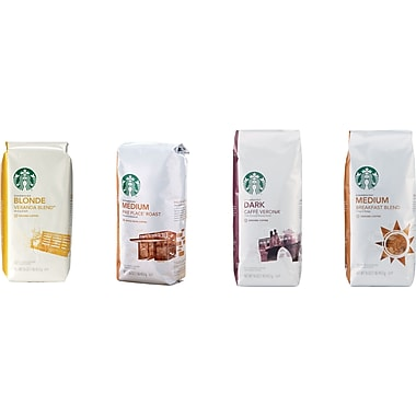 Starbucks® Ground Coffee, 1 lb. Bag, Assorted Flavors