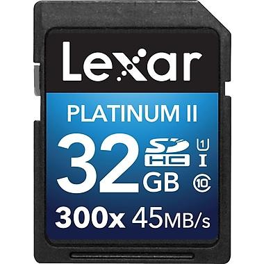 Lexar™ 32GB Platinum II 300x SDHC™ UHS-I Card, Class 10