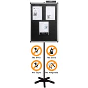 """Justick® Electro-Adhesion Floor Sign features 24""""W x 36""""H Message & Display Board"""