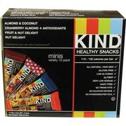 KIND Minis Variety Pack, 0.8 oz Bars, 12 Bars/Box