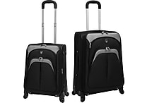 2pc Expandable EVA Luggage Set w/ 360 4-Wheel System, Assorted Colors