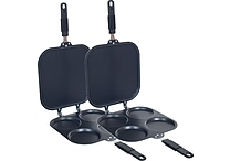Deluxe Perfect Pancake Maker Pans - Set of 2 Pans