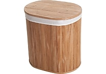 - Lavish Home Bamboo Clothes Hamper with Lid and Removable Liner