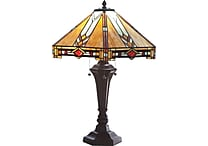 River of Goods 25.5'H Mission Style Stained Glass Table Lamp