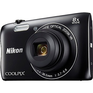 Nikon COOLPIX S3700 Digital Camera, Wi-Fi 20.1MP 8x Optical Zoom, 2.7