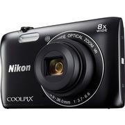 "Nikon COOLPIX S3700 Digital Camera, Wi-Fi 20.1MP 8x Optical Zoom, 2.7"" TFT LCD Screen, Black"
