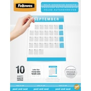 Fellowes Letter Size Self-Adhesive Laminating Sheets, 3 mil, 50/Pack