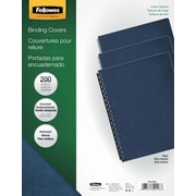 Fellowes Expressions Binding Presentation Covers, Oversize, 200 Pack, Navy