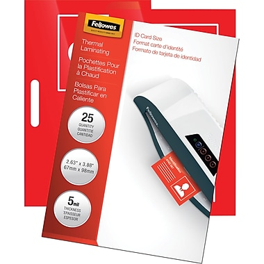 Fellowes Laminating Pouches - 3 7/8