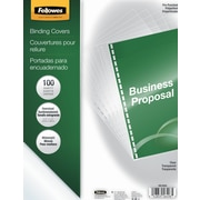 Fellowes Crystals Pre-Punched Binding Presentation Covers, Oversize, 100 Pack,  Clear