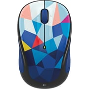 Logitech M325C Wireless Optical Mouse, Ambidextrous, Blue Facet (910-004445)