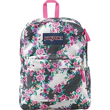 Jansport Superbreak Backpack, Multi Grey Floral (T5010A1) | Staples®