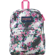 Jansport Superbreak Multi-Grey Floral 600 Denier Polyester Backpack (T5010A1)
