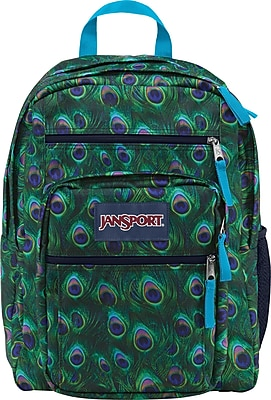 Jansport Big Student Multi Peacock, 600 Denier Polyester Backpack (TDN70AG)