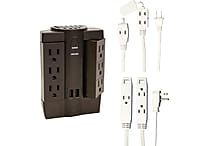Axis Extension Kit - 6ft 3 Outlet Extension Cord, 8ft 3 Outlet Extension Cord, 6 Oulet Swivel / Surge Protector