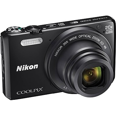 Nikon® – COOLPIX S7000 16,1 MP CMOS, zoom 20x (25-500 mm), zoom dynam. 40x, ACL 460k 3 po, vidéo pleine HD et Wi-Fi intégré