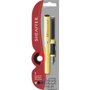 A.T. Cross Sheaffer Calligraphy Viewpoint Fountain Pen, Medium Point, Yellow Gloss with Nickel Plated Trim (73401)