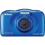 "Nikon® COOLPIX S33 13MP CMOS, 3x Zoom (30-90mm) 6x Dynamic zoom, 2.7"" LCD, Full HD 1080 video, Blue"
