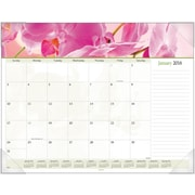 "2016 AT-A-GLANCE® Floral Panoramic Desk Pad, 22"" x 17"", Design, (89805)"