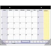 "2016 AT-A-GLANCE® QuickNotes® Desk Pad, 22'' x 17"", Blue/Yellow, (SK700-00)"