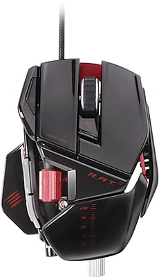 R.A.T. 7 Gaming Mouse for PC and Mac, Glossy Black