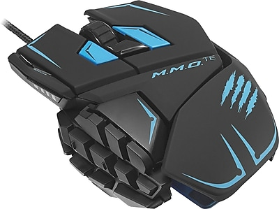 M.M.O. TE Gaming Mouse for PC & Mac, Black