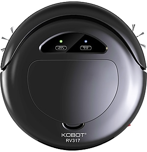 Techko KOBOT Robotic Vacuum & Hard Floor Cleaner Black (RV317-BK)