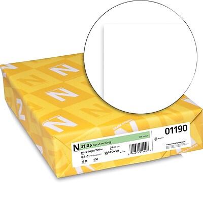 ATLAS 25% Cotton Bond 8 1 2 x 11 24 lb. Light Cockle Paper Ultra Bright White 500 Ream